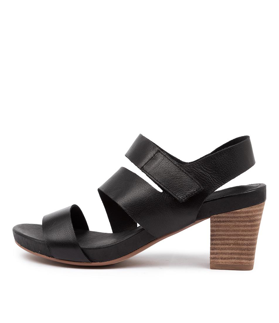 Buy Django & Juliette Denice Dj Black Heeled Sandals online with free shipping