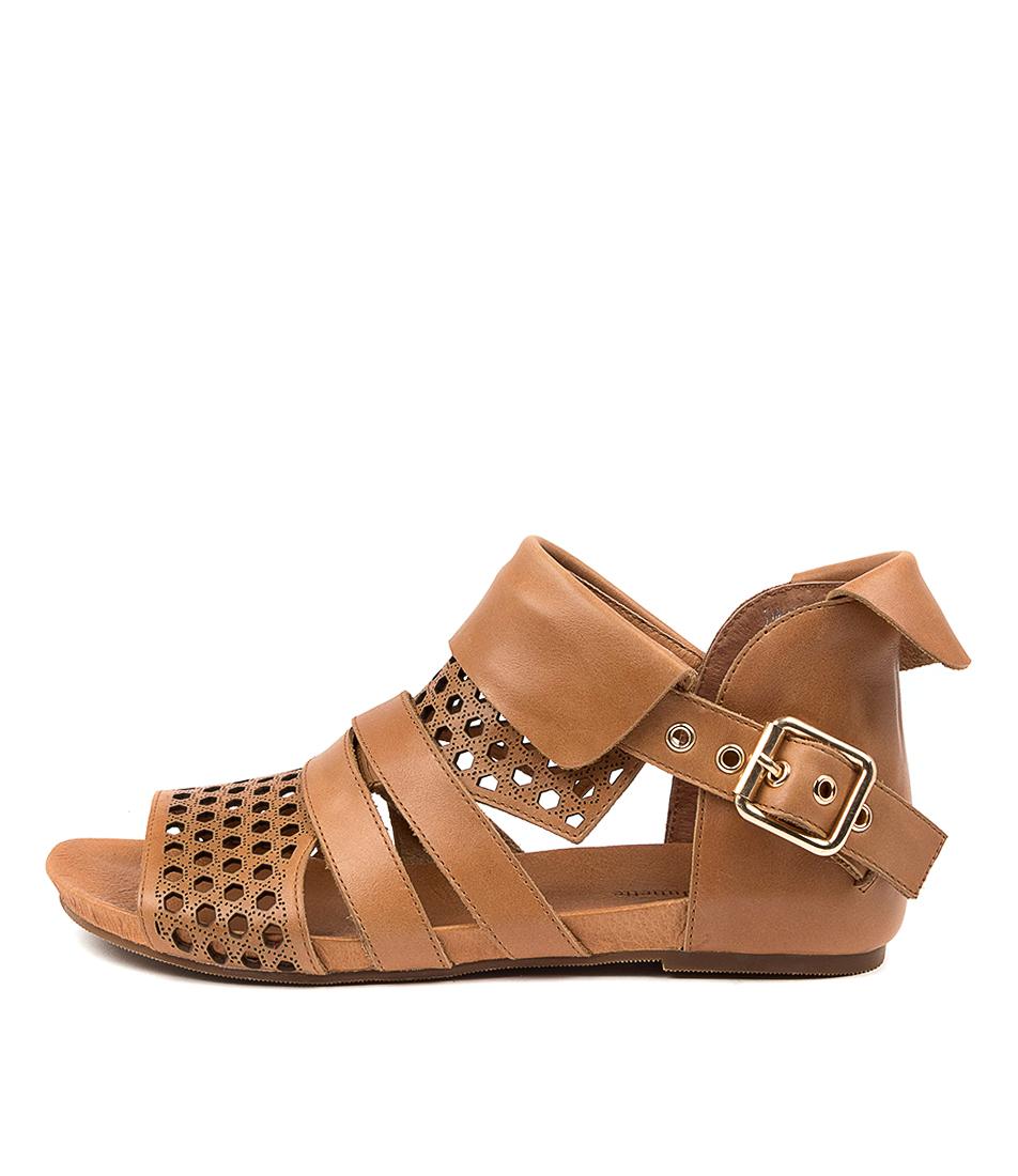 Buy Django & Juliette Dwan Dj Tan Flat Sandals online with free shipping