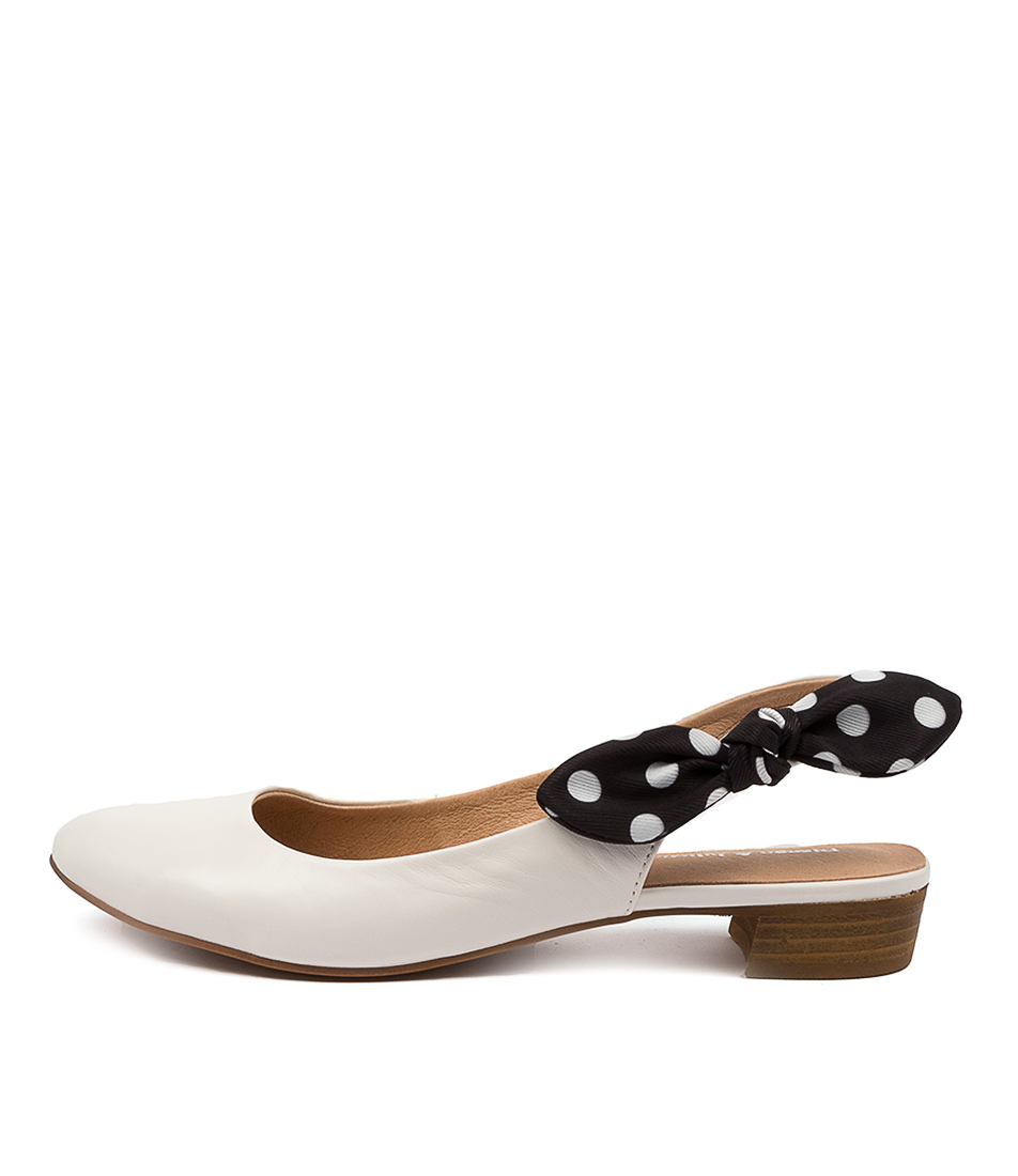 Buy Django & Juliette Exie Dj White Black Spot Flats online with free shipping