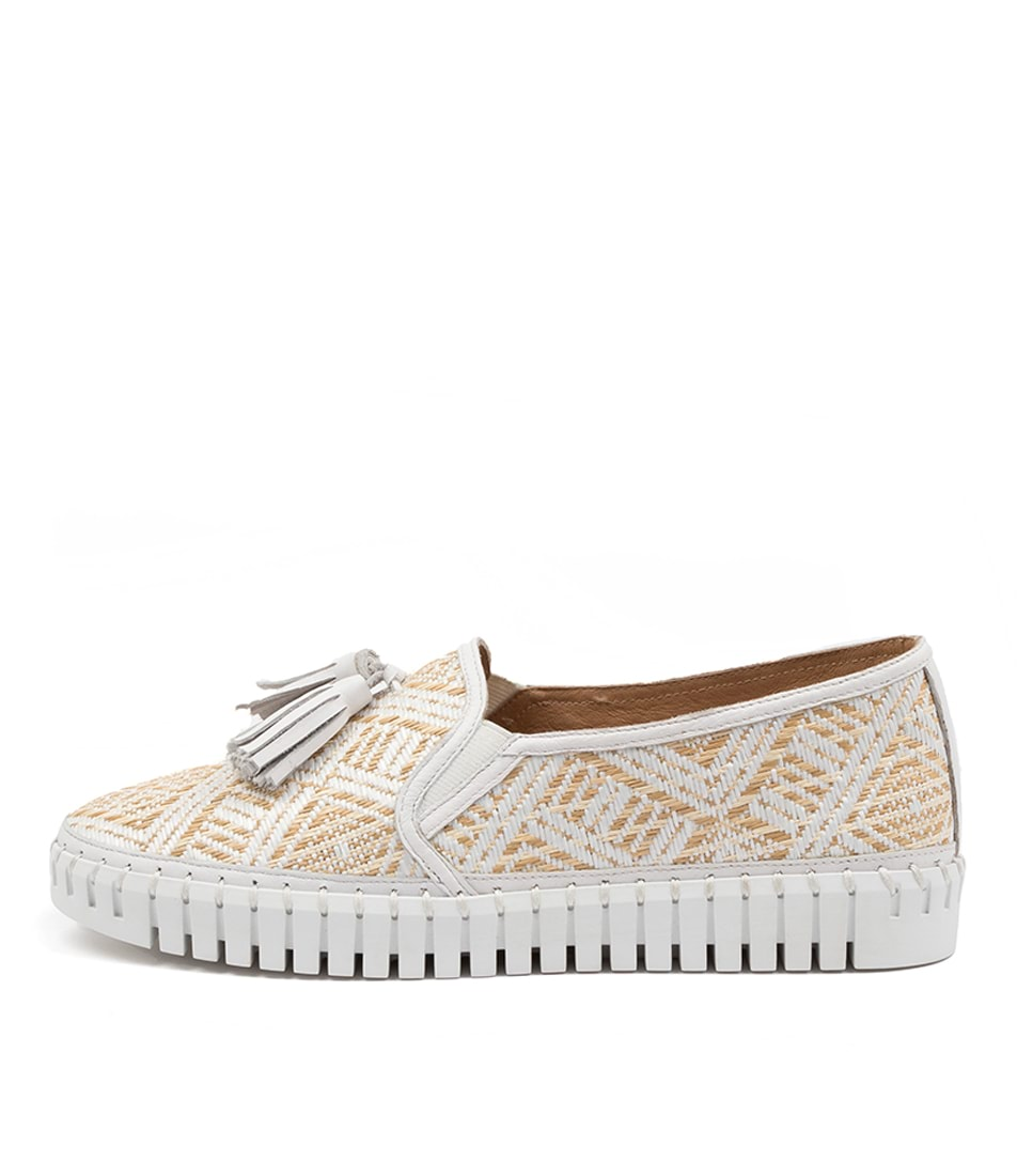 Buy Django & Juliette Halope Dj Natural & White White Sneakers online with free shipping