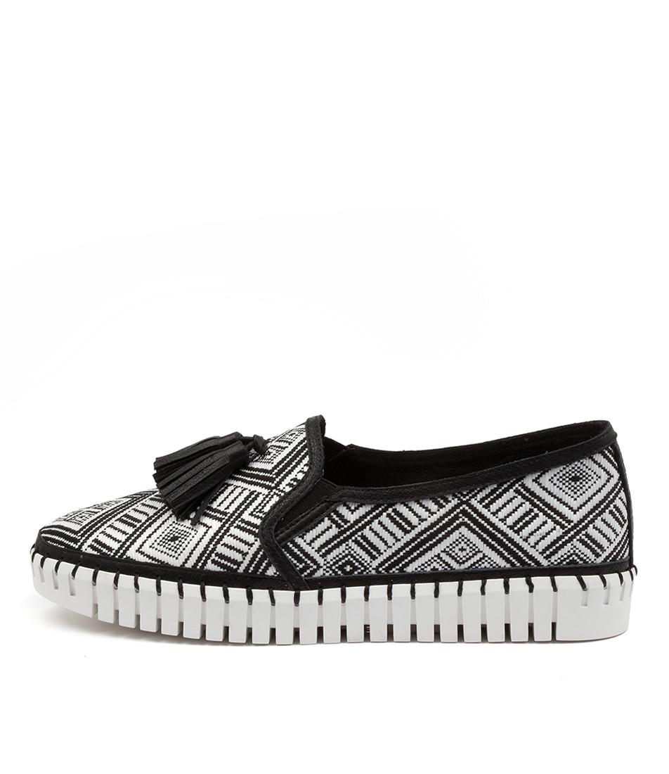 Buy Django & Juliette Halope Dj White & Black Bla Sneakers online with free shipping
