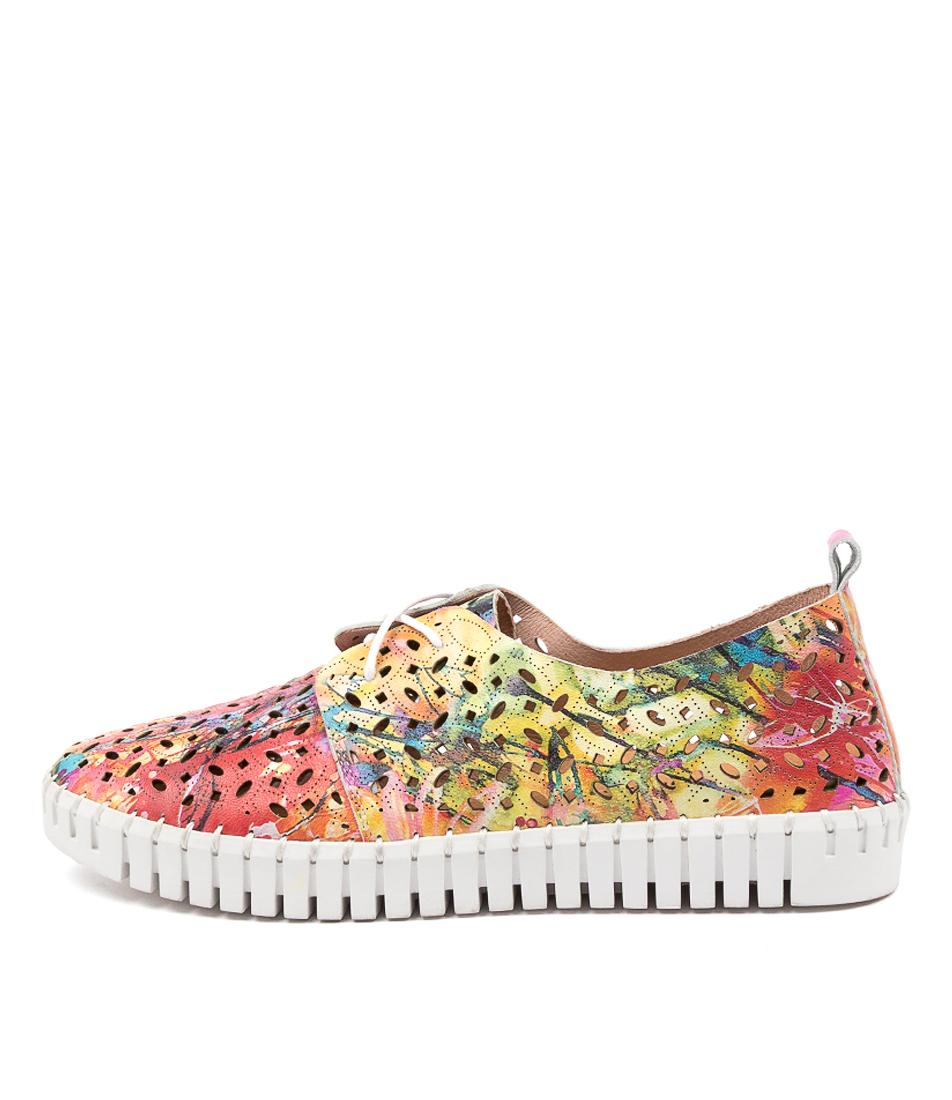 Buy Django & Juliette Hermann Dj Splash White Sole Sneakers online with free shipping
