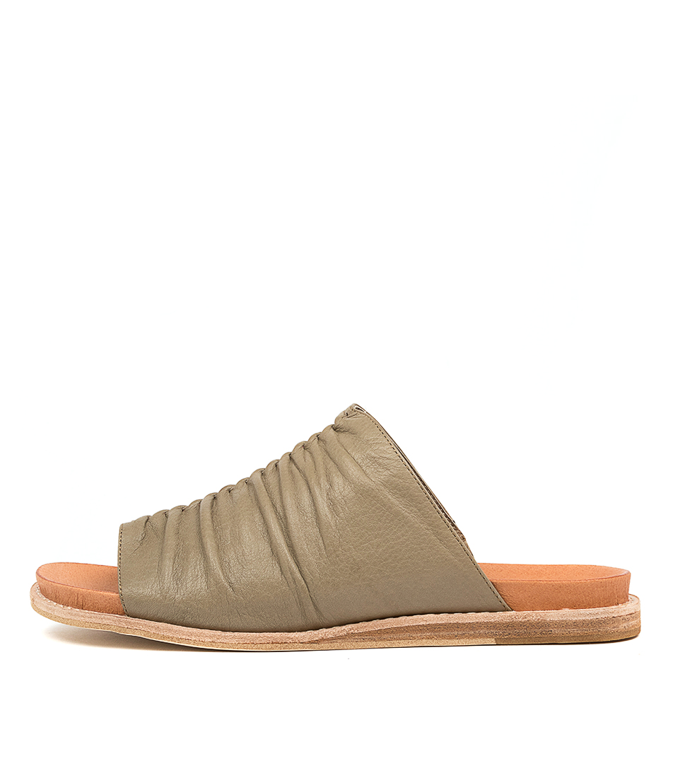 Buy Django & Juliette Hill Dj Khaki Flat Sandals online with free shipping