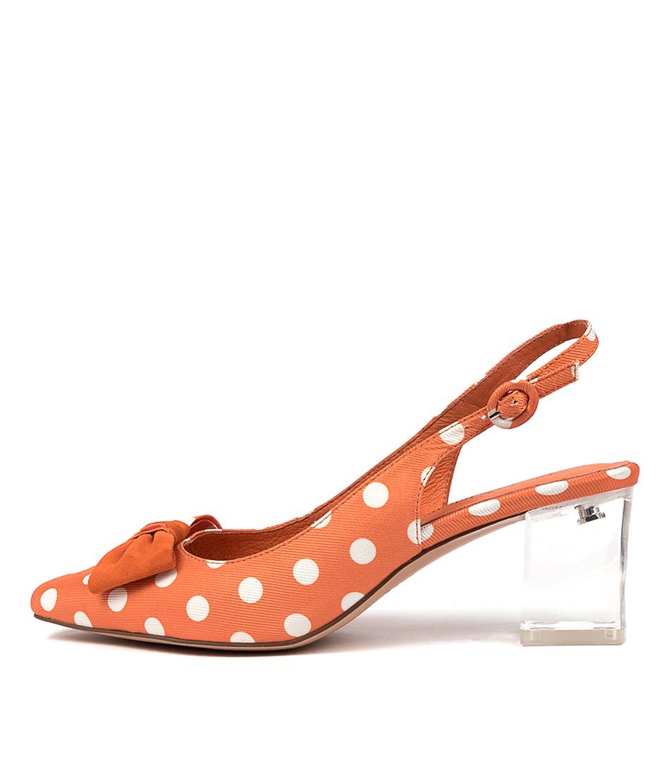Buy Django & Juliette Hjalmer Dj Orange Spot Orange High Heels online with free shipping