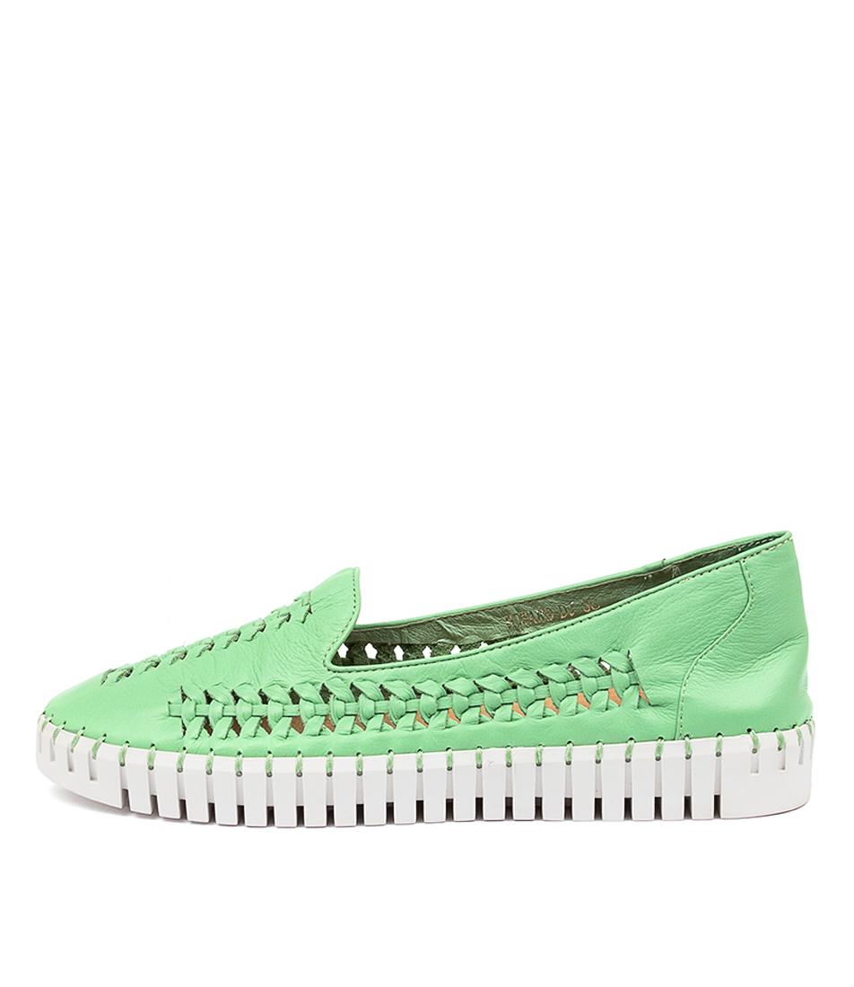 Buy Django & Juliette Howard Dj Bright Green White Sole Sneakers online with free shipping