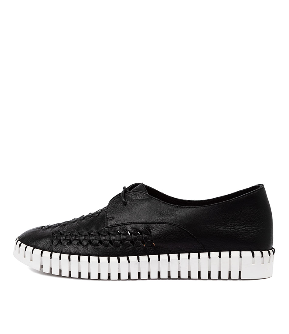 Buy Django & Juliette Hubert Dj Black White Sole Sneakers online with free shipping