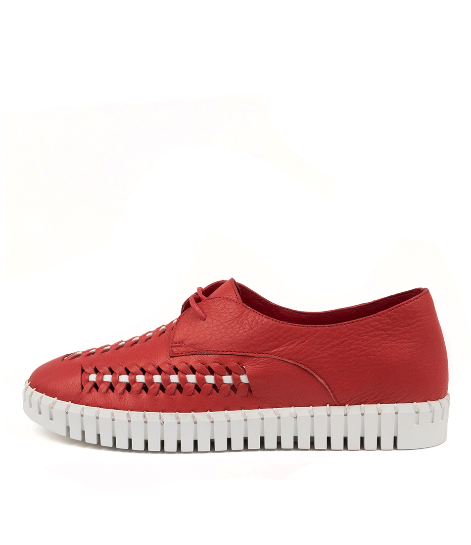 Buy Django & Juliette Hubert Dj Red White Sneakers online with free shipping