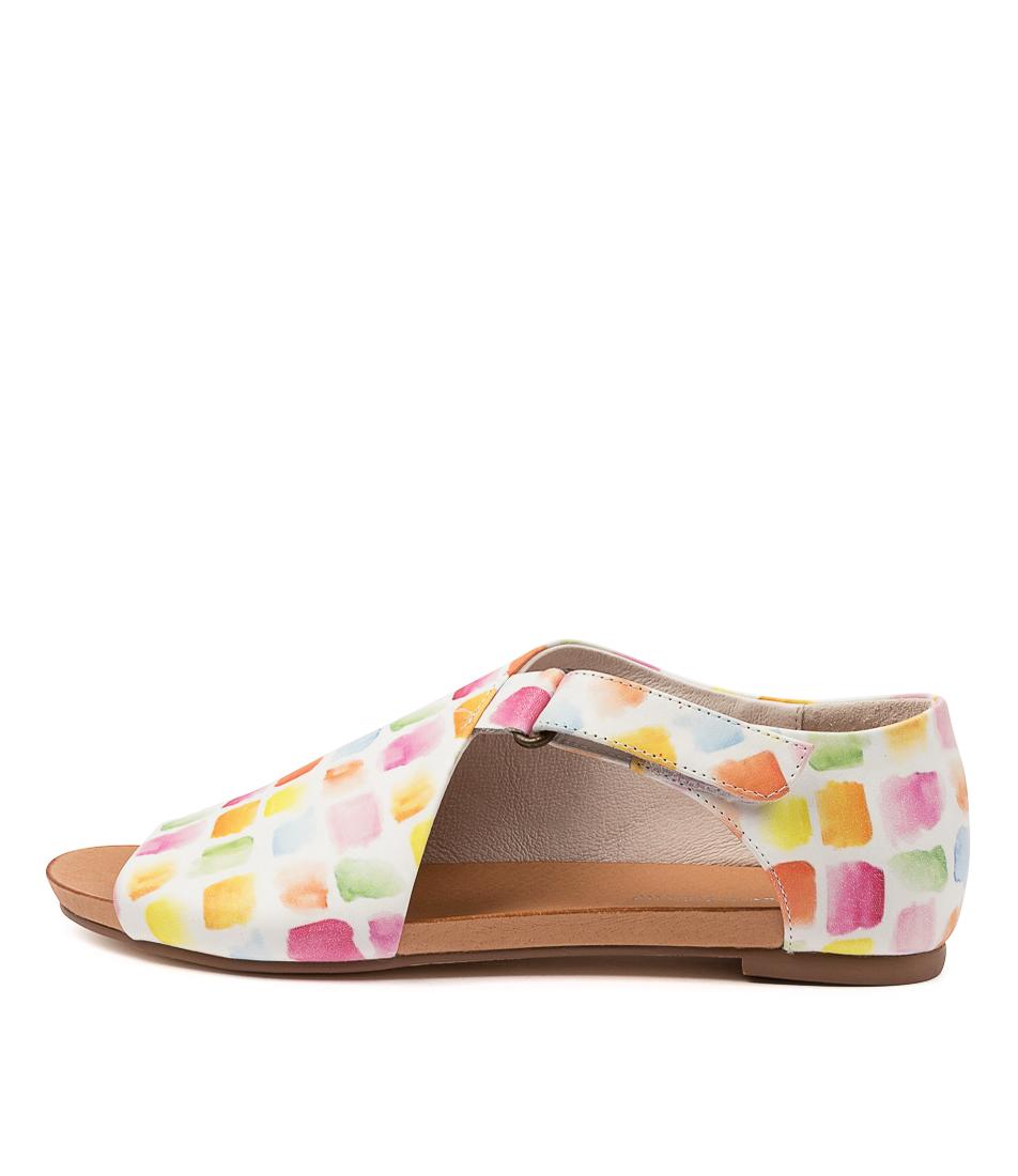 Buy Django & Juliette Jakob Dj Paint Print Flat Sandals online with free shipping