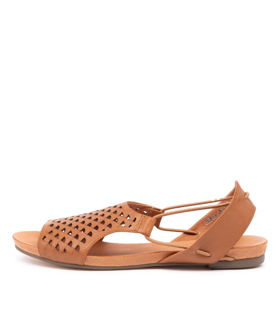 Buy Django & Juliette Jerricas Dj Dk Tan Flat Sandals online with free shipping
