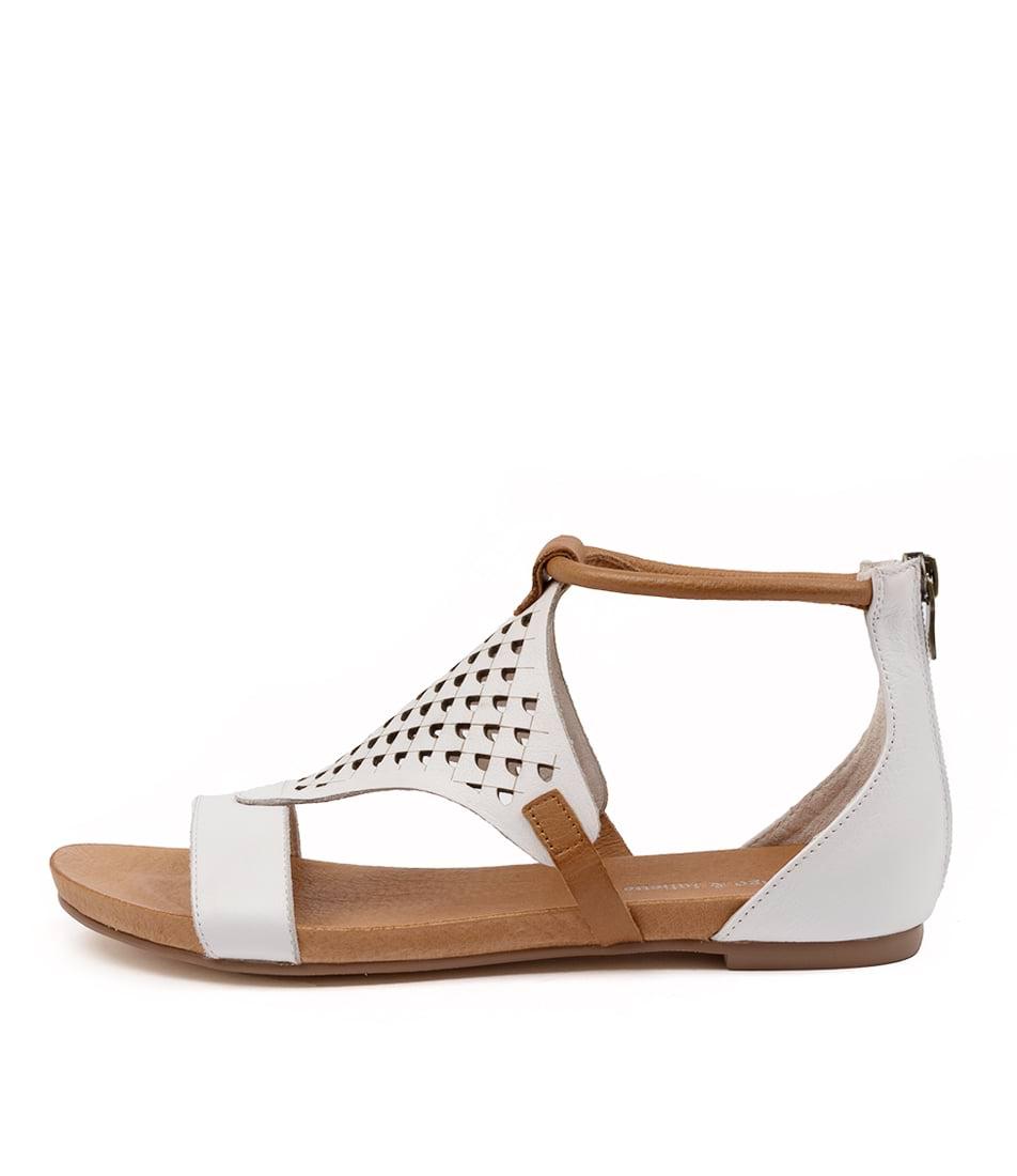 Buy Django & Juliette Jerrod Dj White Dk Tan Flat Sandals online with free shipping