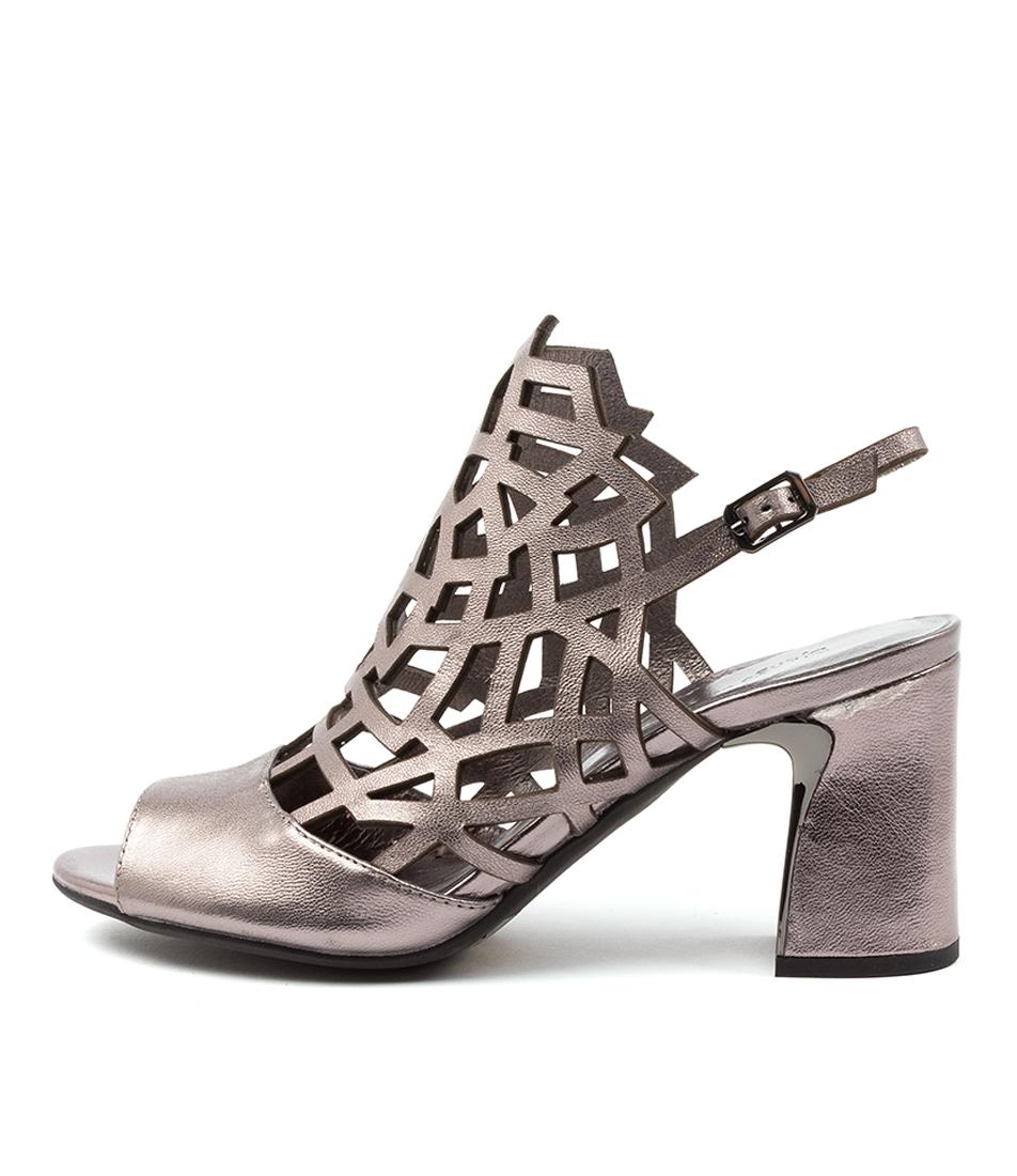 Buy Django & Juliette Kaycee Dj Pewter Heeled Sandals online with free shipping
