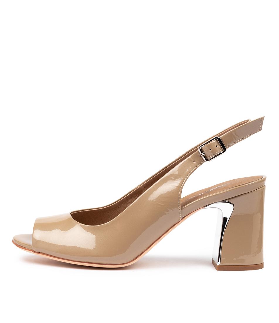 Buy Django & Juliette Kianna Dj Taupe Pearl Heeled Sandals online with free shipping