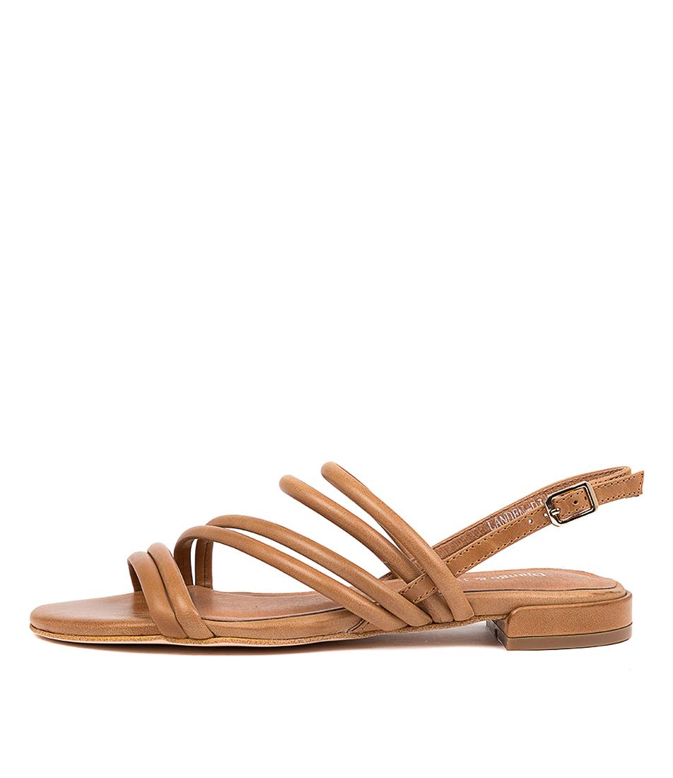 Buy Django & Juliette Landen Dj Tan Flat Sandals online with free shipping