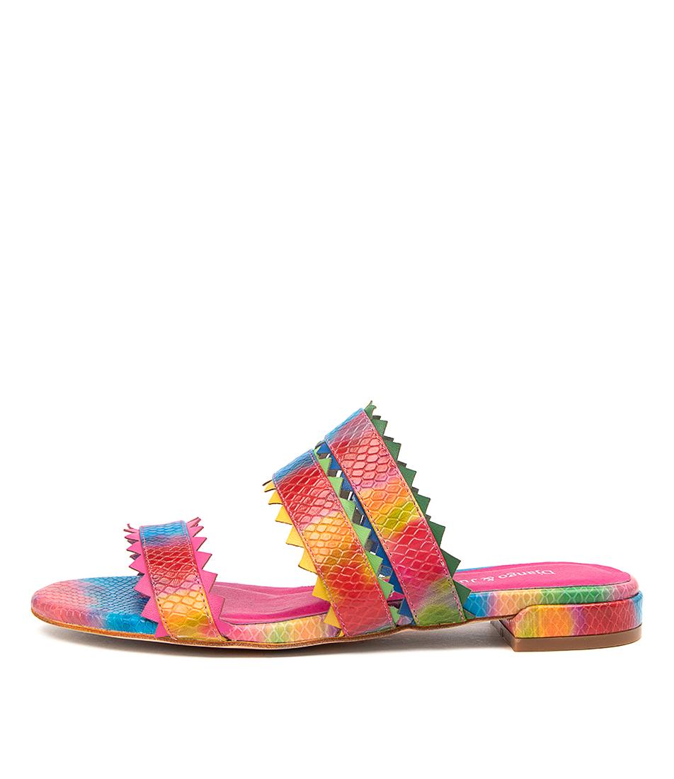 Buy Django & Juliette Lazaro Dj Rainbow Flat Sandals online with free shipping