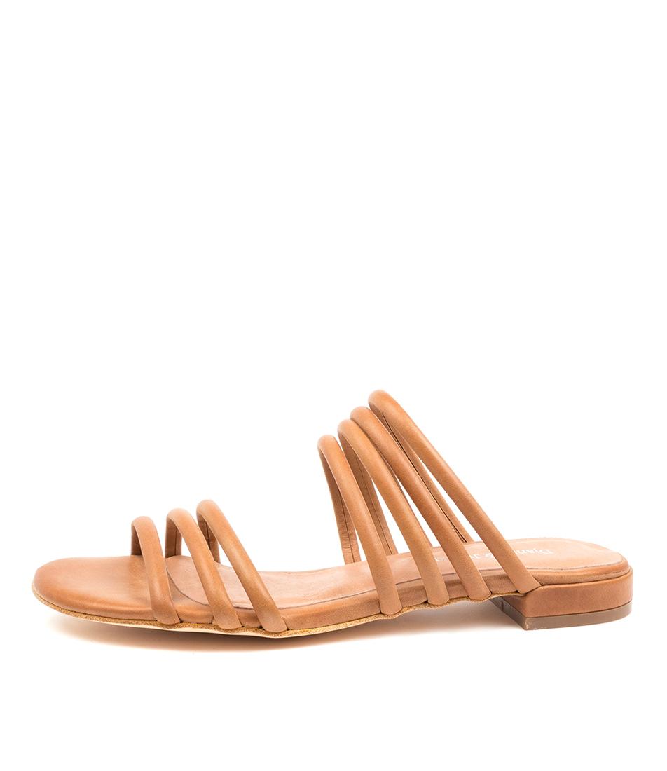 Buy Django & Juliette Lemma Dj Tan Flat Sandals online with free shipping