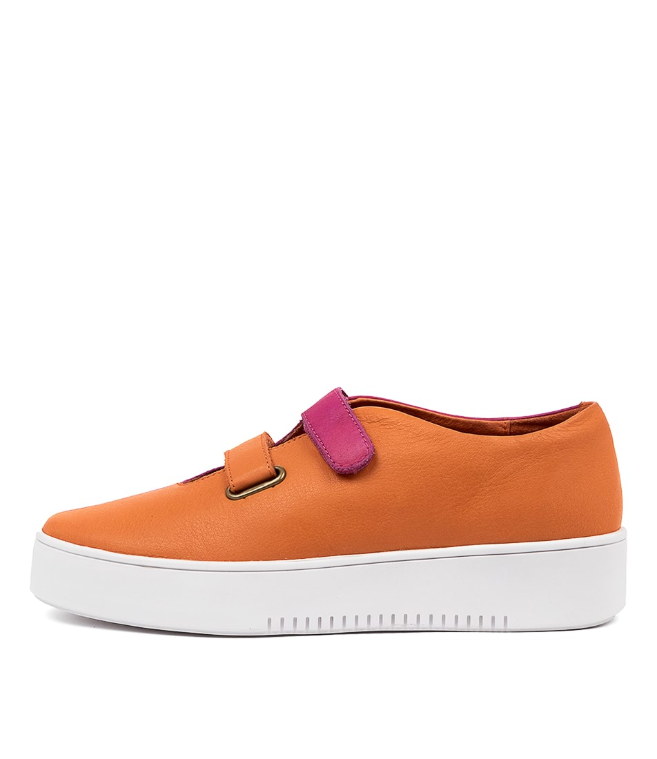 Buy Django & Juliette Lester Dj Bright Orange F Flats online with free shipping