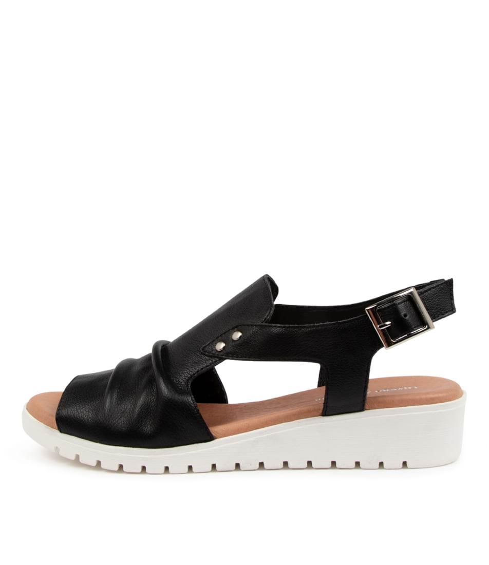 Buy Django & Juliette Madis Dj Black White Sole Flat Sandals online with free shipping