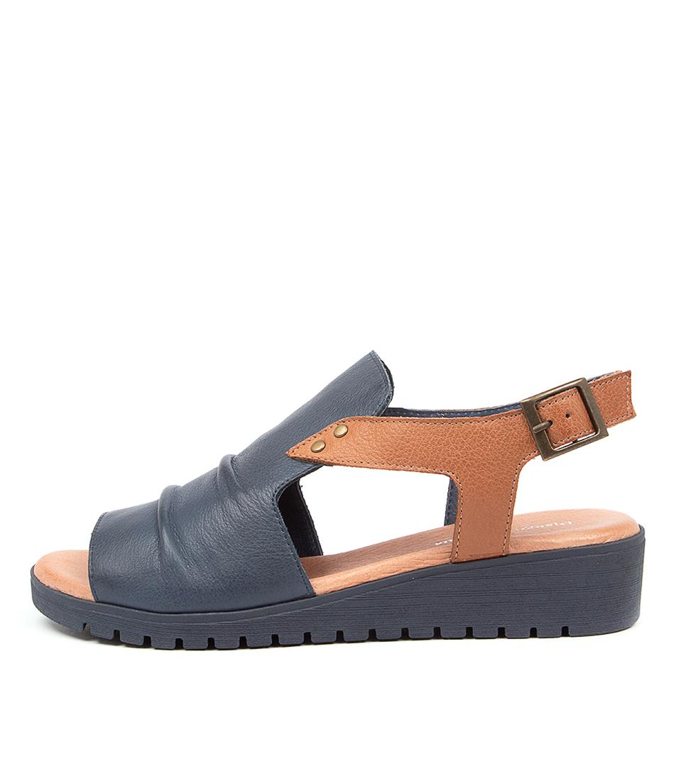 Buy Django & Juliette Madis Dj Navy Dk Tan Flat Sandals online with free shipping