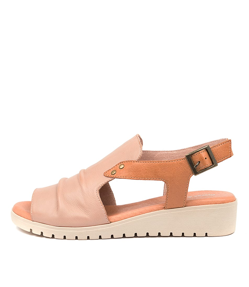 Buy Django & Juliette Madis Dj Cafe Dk Tan Flat Sandals online with free shipping
