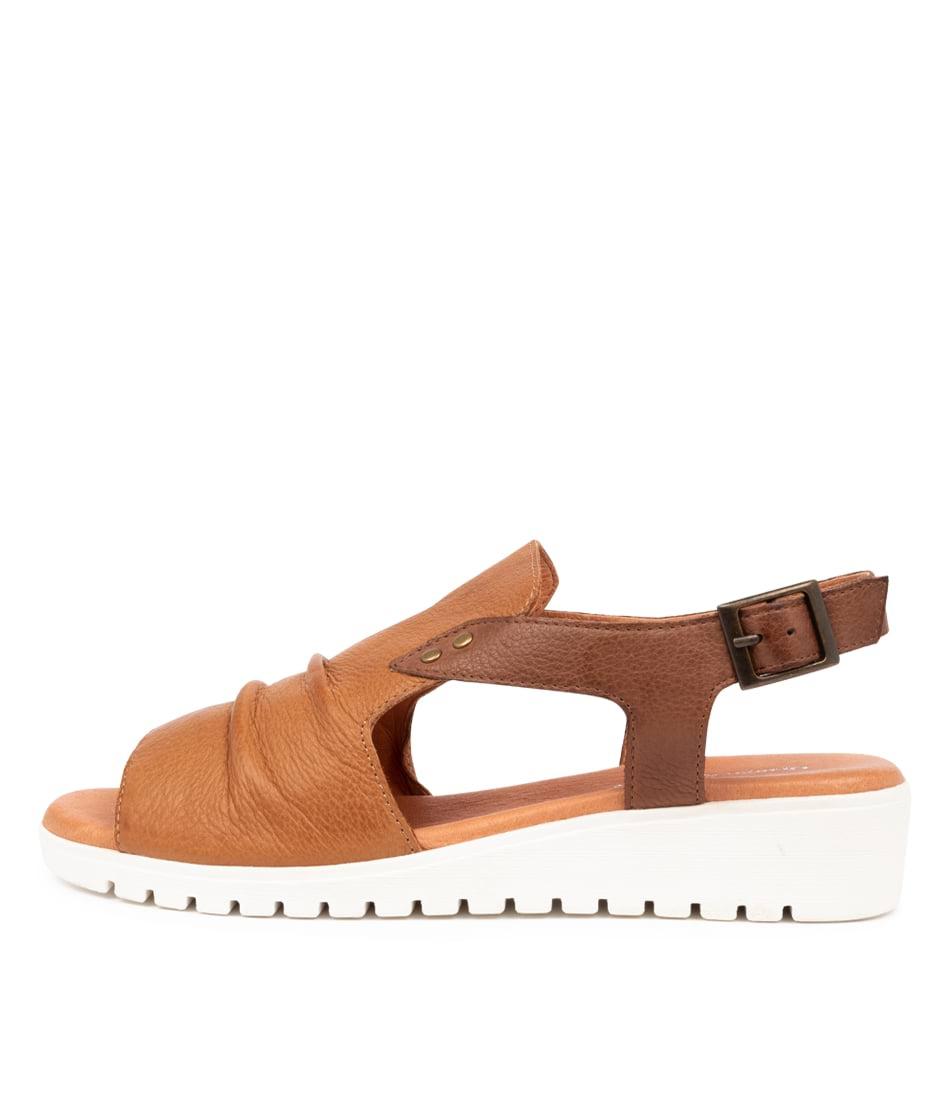 Buy Django & Juliette Madis Dj Tan Dk Tan Flat Sandals online with free shipping