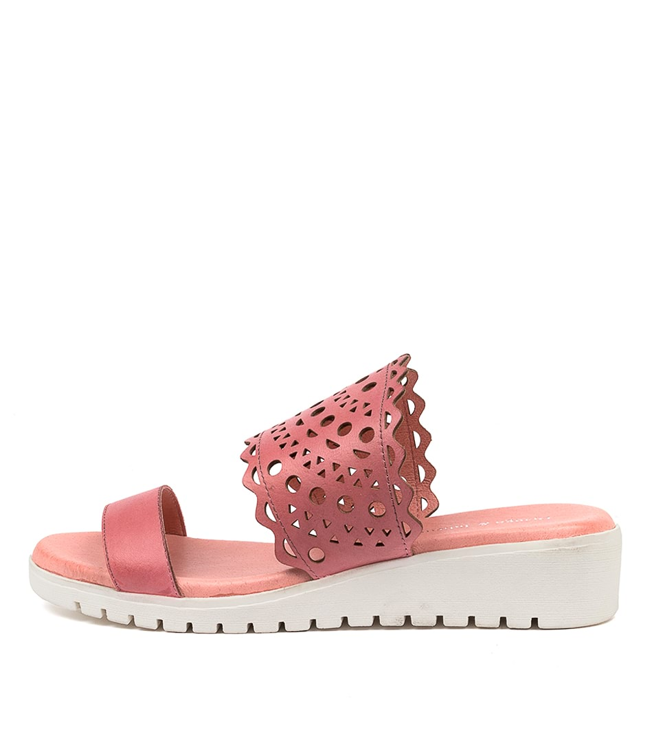 Buy Django & Juliette Micky Dj Candy Pink White Sole Flat Sandals online with free shipping