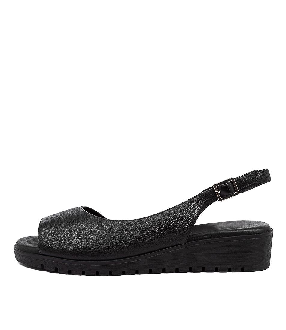 Buy Django & Juliette Mitzi Dj Black Black Sole Flat Sandals online with free shipping