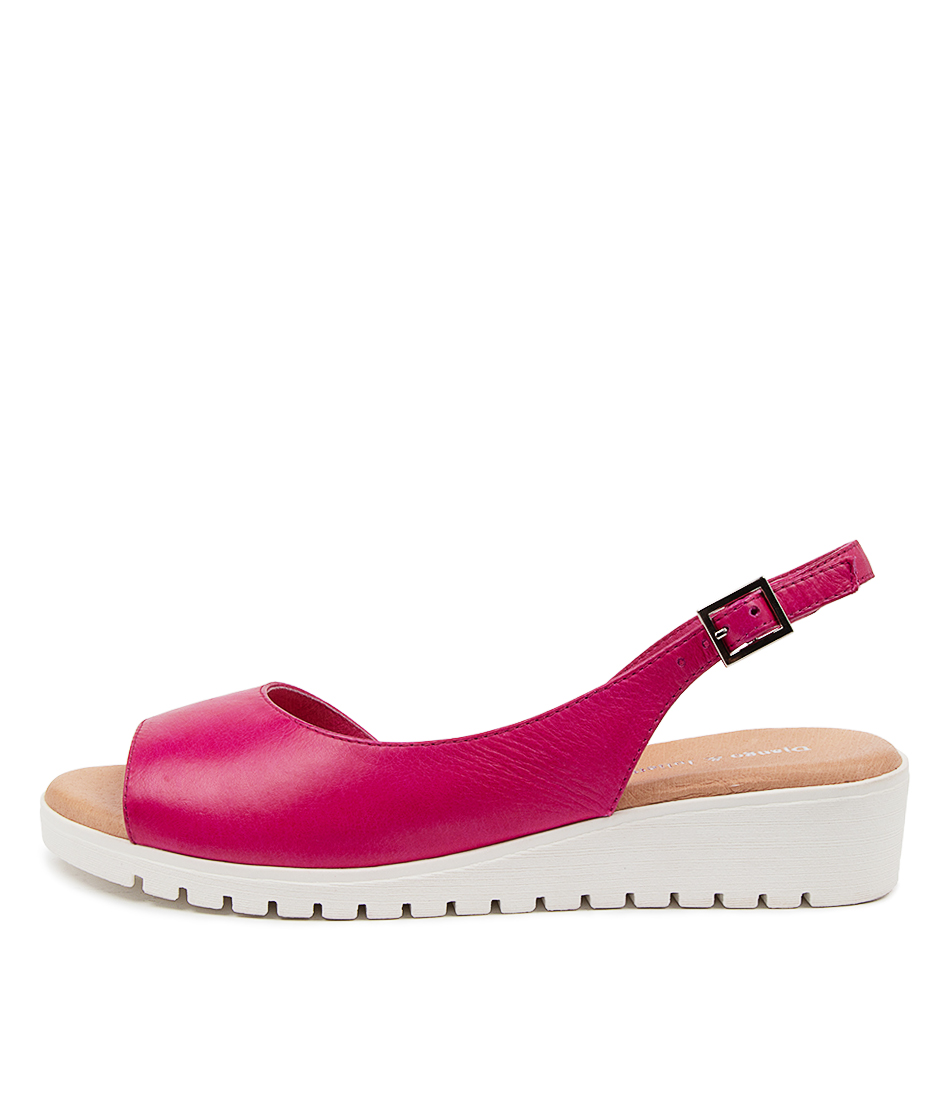 Buy Django & Juliette Mitzi Dj Fuchsia White Sole Flat Sandals online with free shipping