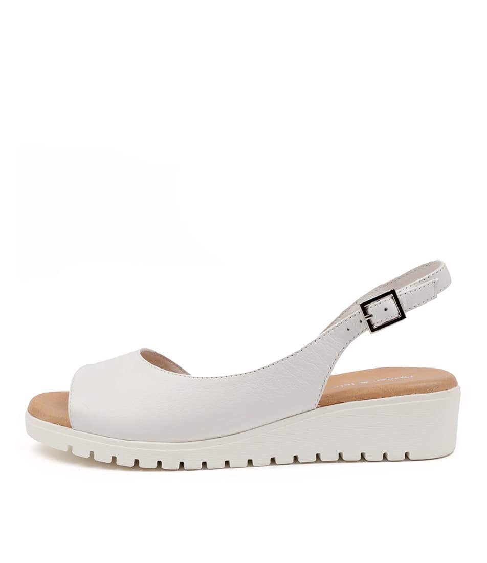 Buy Django & Juliette Mitzi Dj White White Sole Flat Sandals online with free shipping