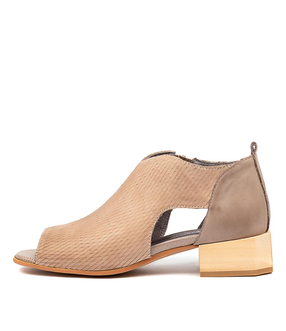 Buy Django & Juliette Nataly Dj Beige Taupe Heeled Sandals online with free shipping