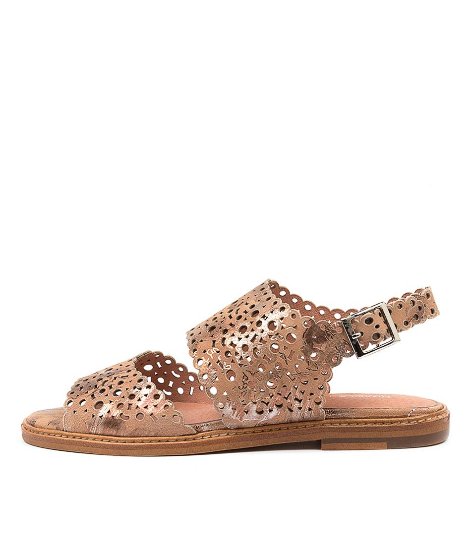 Buy Django & Juliette Nealy Dj Nude Metallic Flat Sandals online with free shipping