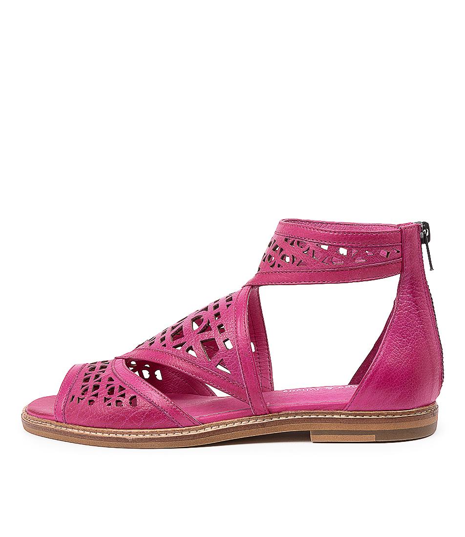 Buy Django & Juliette Nevaeh Dj Fuchsia Flat Sandals online with free shipping