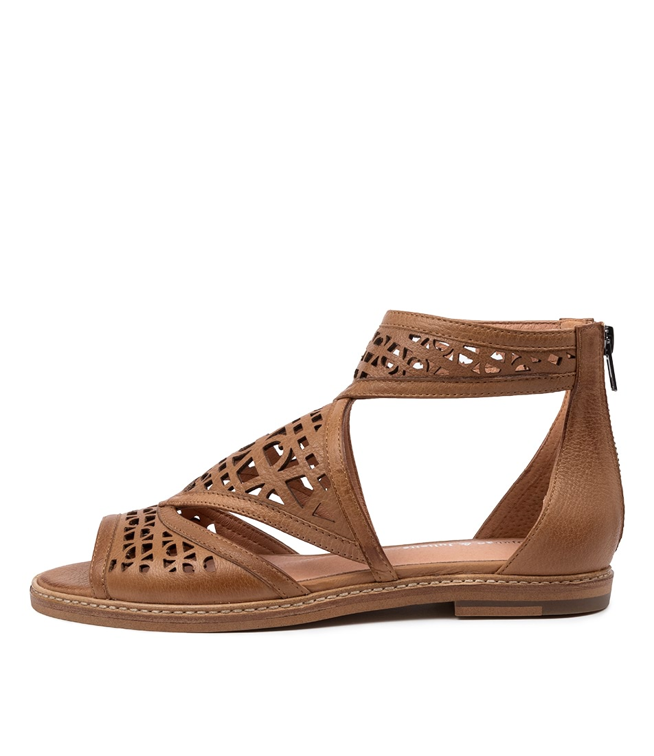 Buy Django & Juliette Nevaeh Dj Dk Tan Flat Sandals online with free shipping