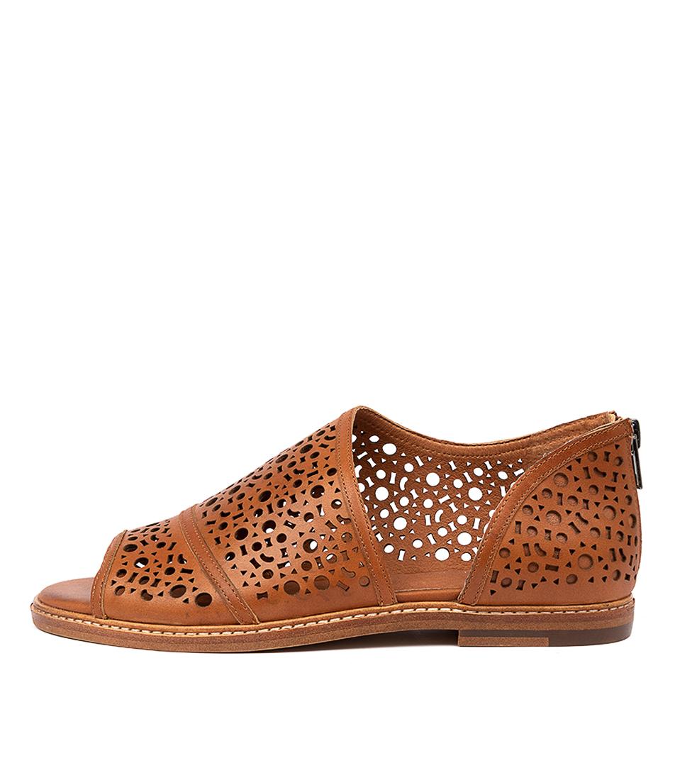 Buy Django & Juliette Nico Dj Dk Tan Flat Sandals online with free shipping