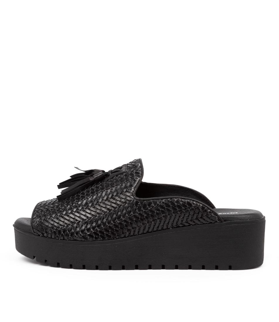 Buy Django & Juliette Orasama Dj Black Heeled Sandals online with free shipping