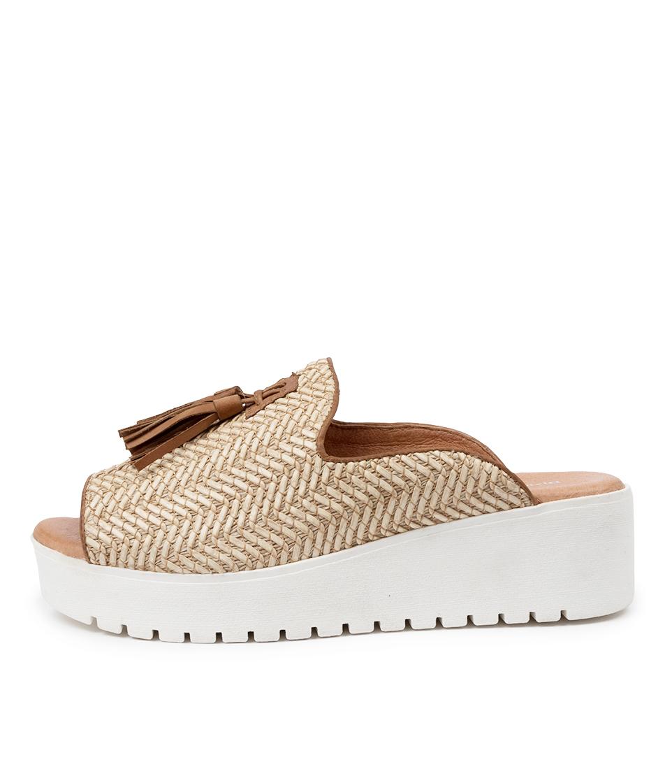 Buy Django & Juliette Orasama Dj Lt Tan Tan Heeled Sandals online with free shipping