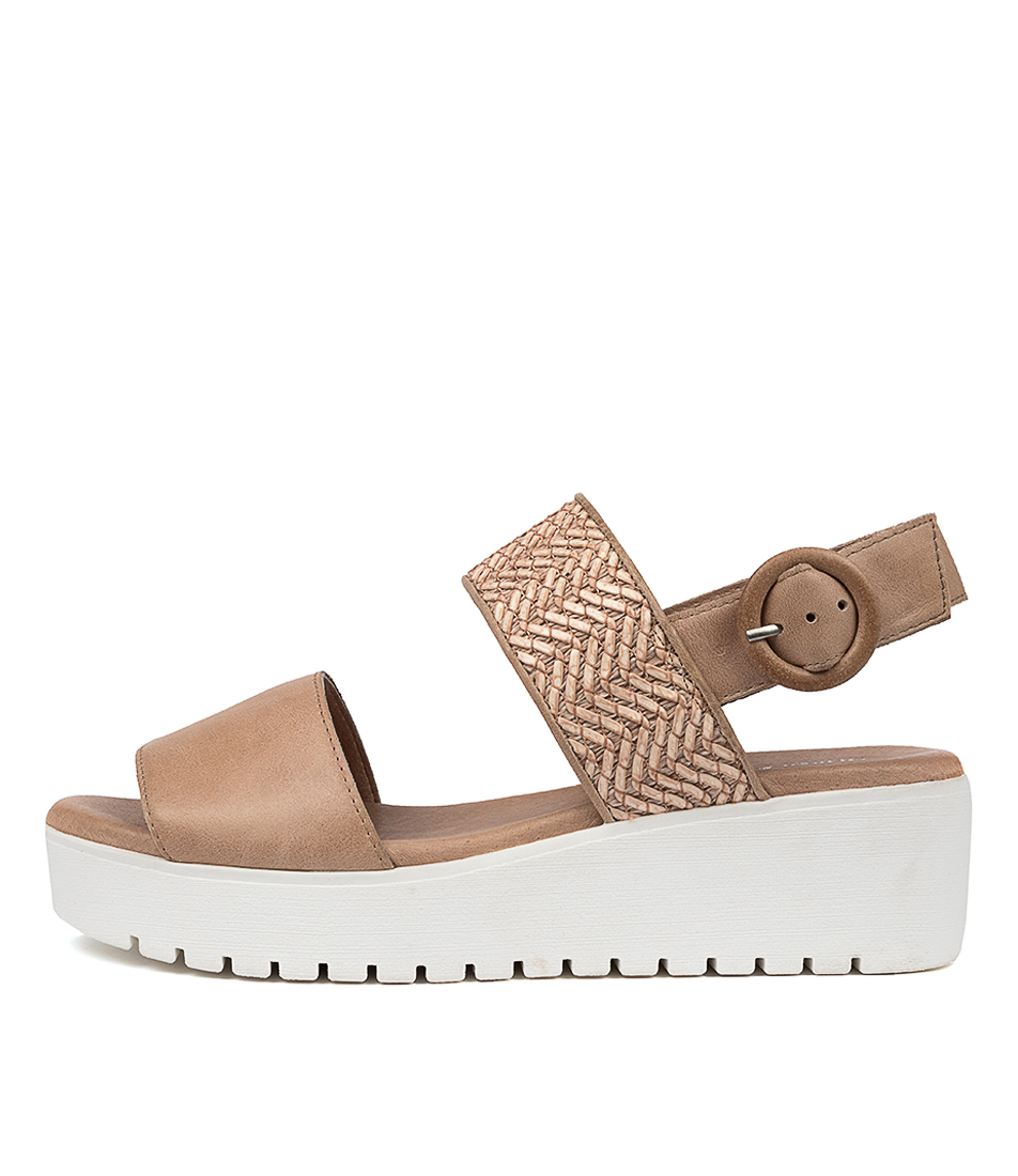 Buy Django & Juliette Orsome Dj Coffee Latte Flat Sandals online with free shipping