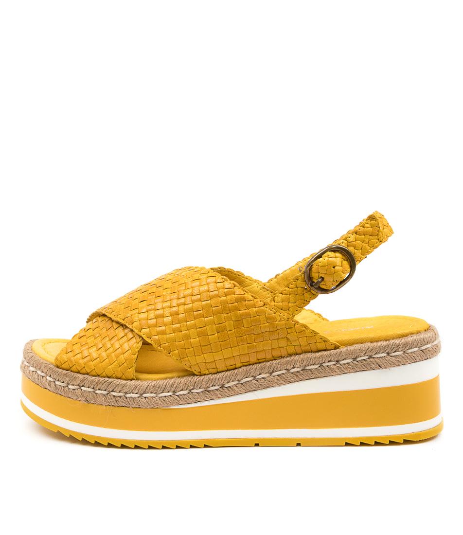 Buy Django & Juliette Patricia Dj Yellow Flat Sandals online with free shipping