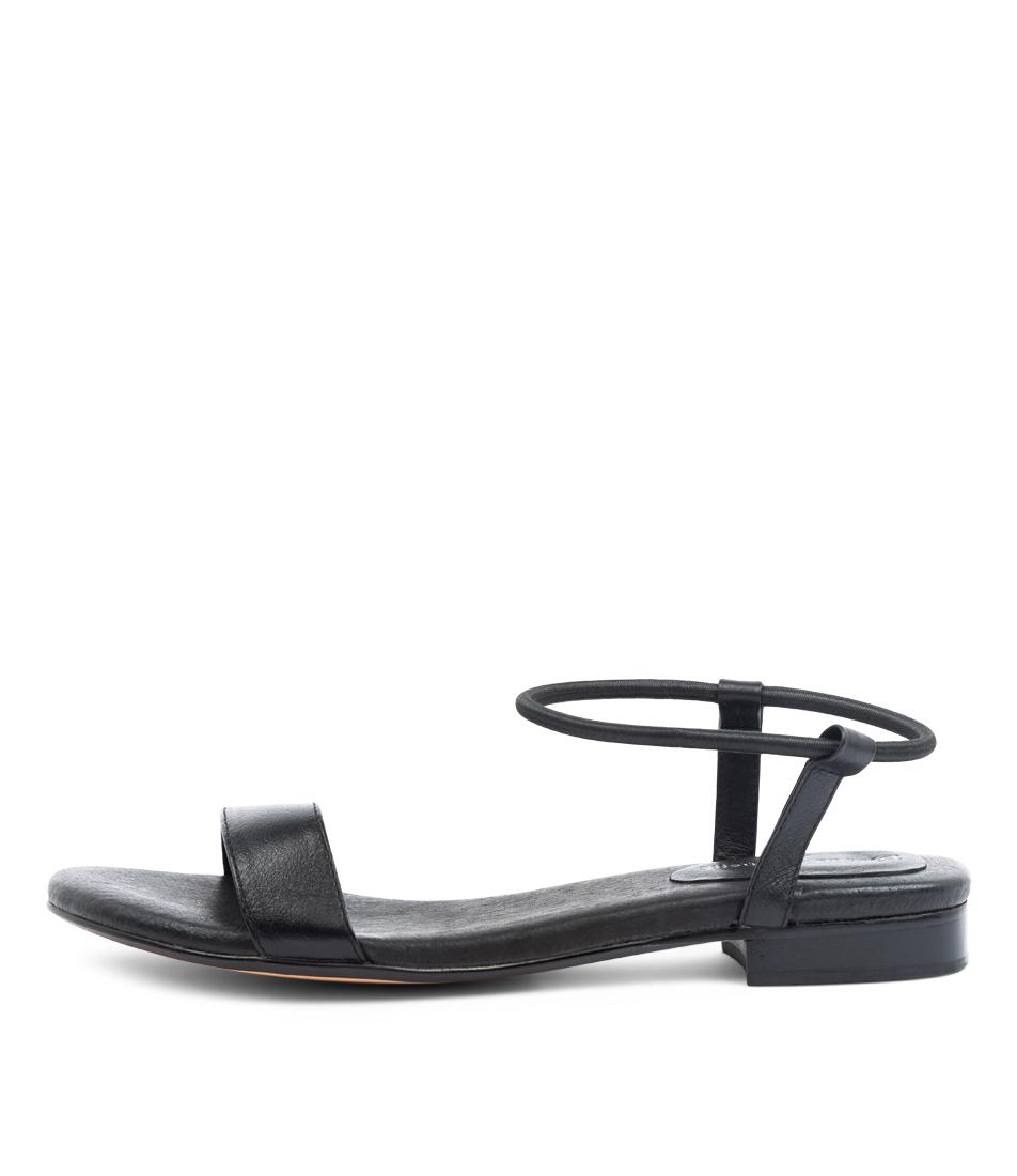 Buy Django & Juliette Phyllis Dj Black Flat Sandals online with free shipping