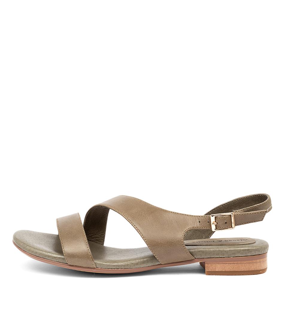 Buy Django & Juliette Porsche Dj Khaki Flat Sandals online with free shipping