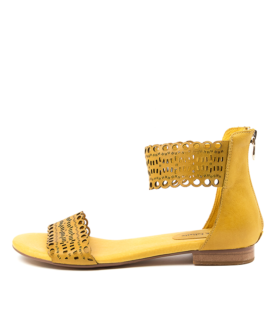 Buy Django & Juliette Porshie Dj Yellow Flat Sandals online with free shipping