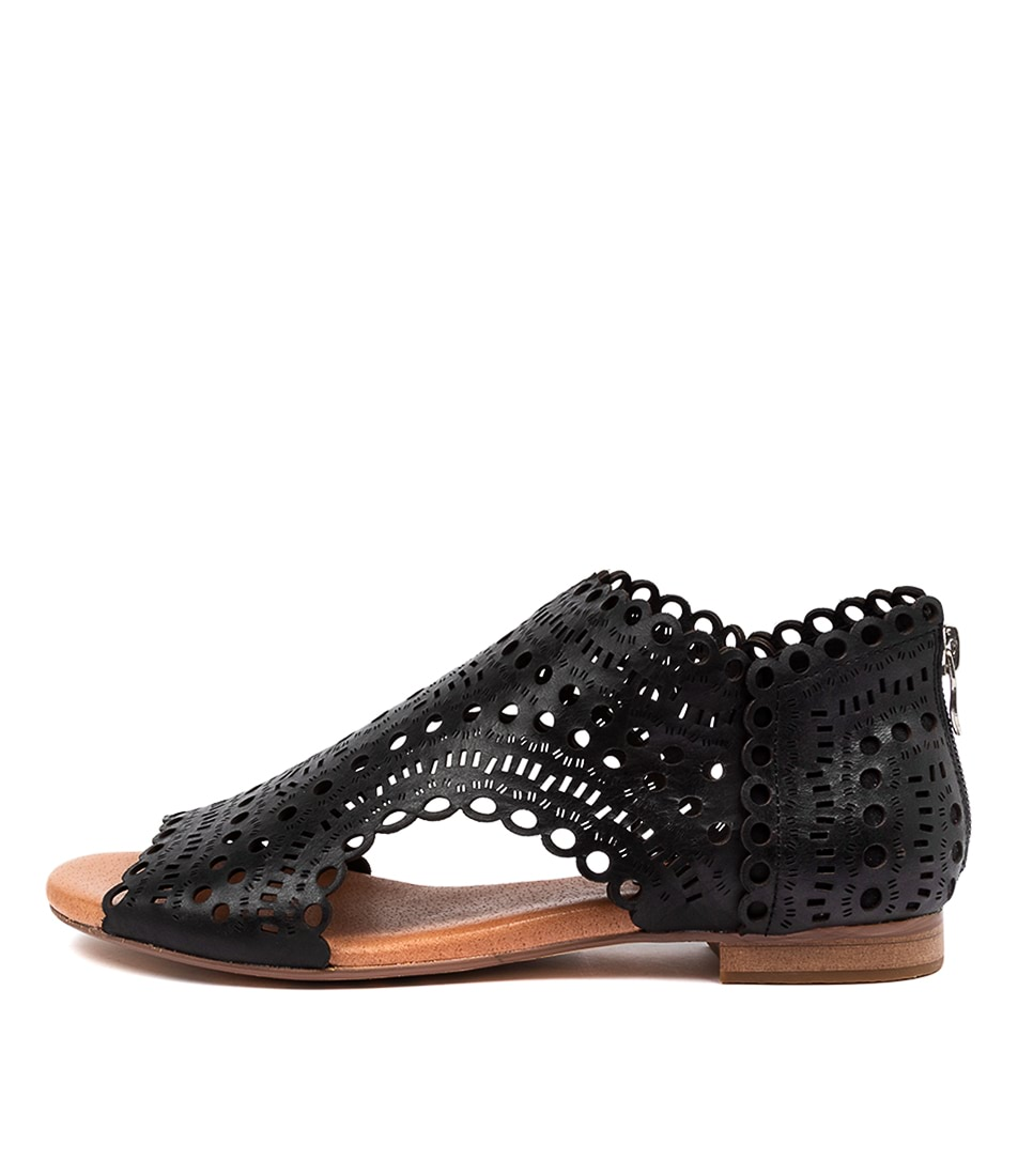 Buy Django & Juliette Powers Dj Black Flat Sandals online with free shipping