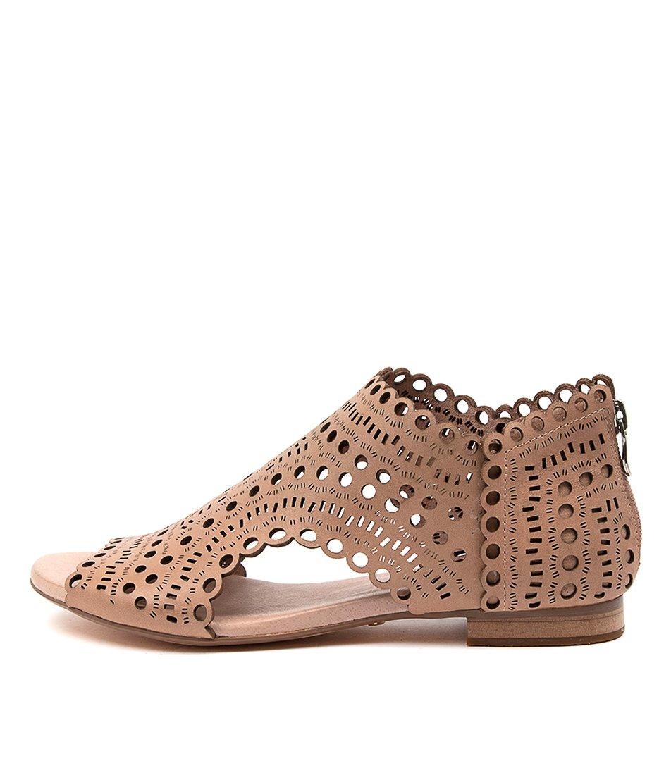 Buy Django & Juliette Powers Dj Nude Flat Sandals online with free shipping
