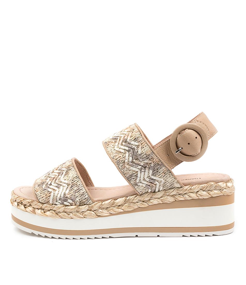 Buy Django & Juliette Prat Dj Coffee Latte Heeled Sandals online with free shipping