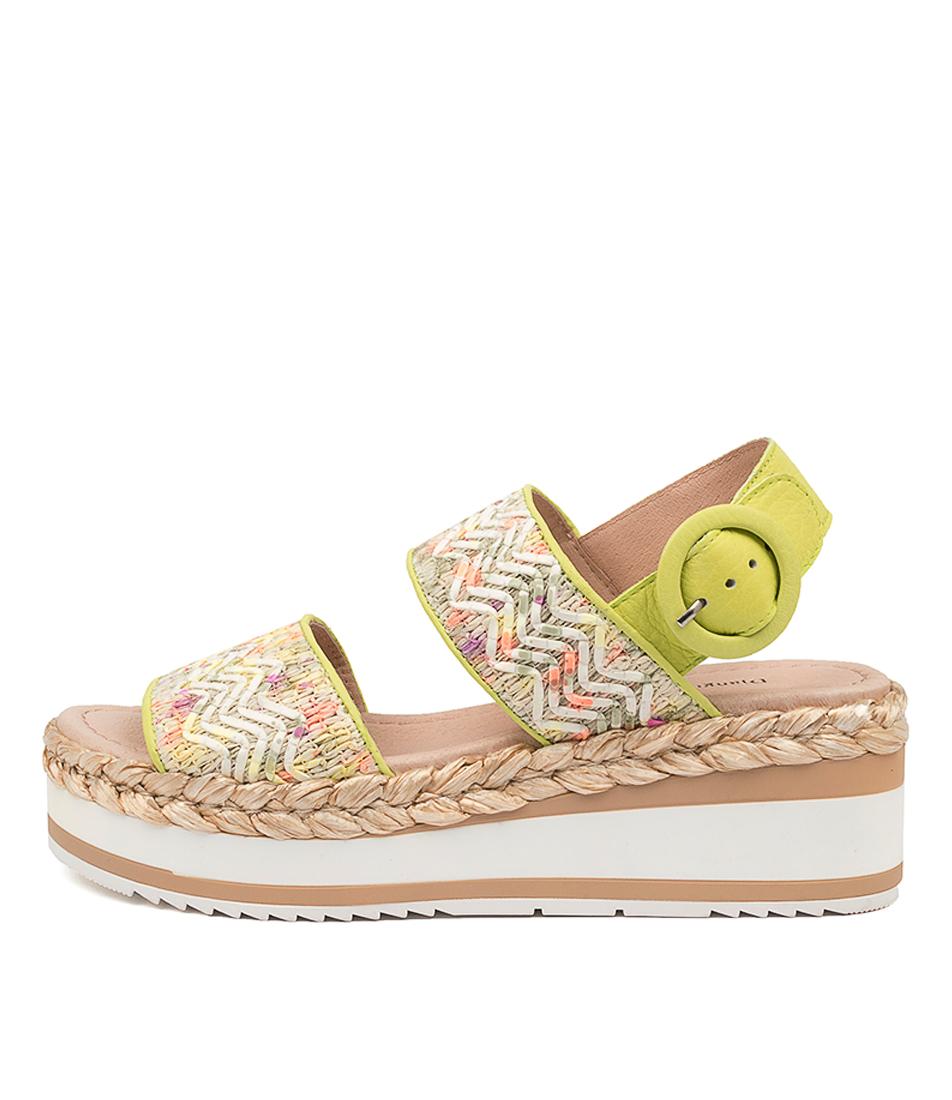 Buy Django & Juliette Prat Dj Bright Lime Heeled Sandals online with free shipping