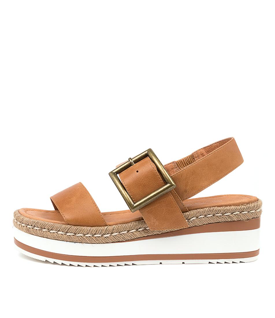Buy Django & Juliette Purr Dj Tan Heeled Sandals online with free shipping