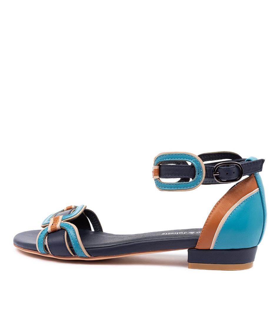 Buy Django & Juliette Quin Dj Navy Flat Sandals online with free shipping
