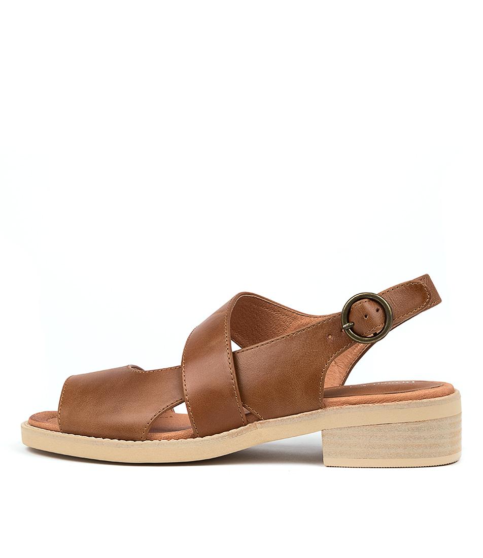 Buy Django & Juliette Randel Dj Dk Tan Heeled Sandals online with free shipping