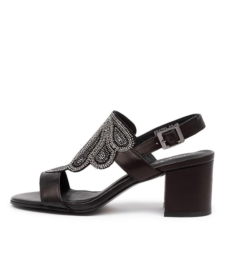 Buy Django & Juliette Reatha Dj Black Mul Heeled Sandals online with free shipping