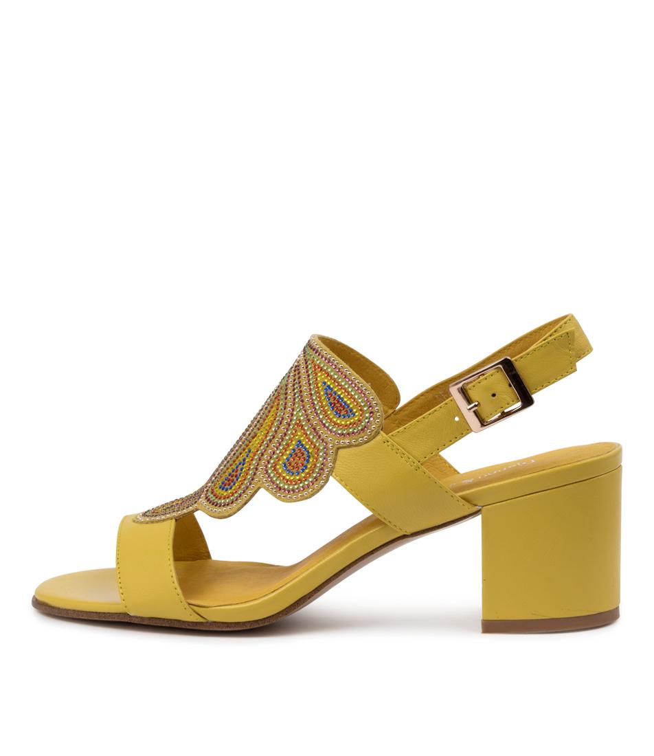 Buy Django & Juliette Reatha Dj Yellow Bright Multi Heeled Sandals online with free shipping