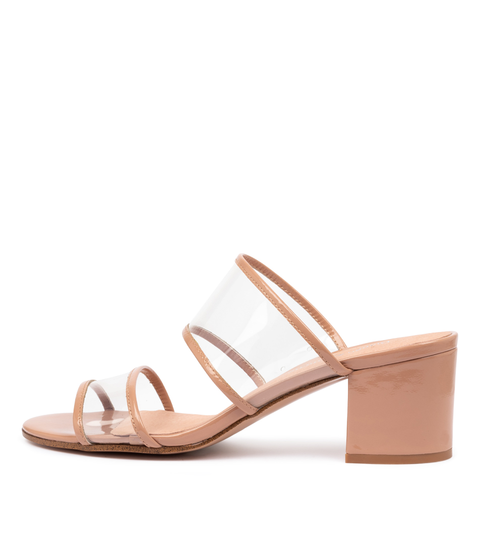 Buy Django & Juliette Rennie Dj Nude Clear Heeled Sandals online with free shipping